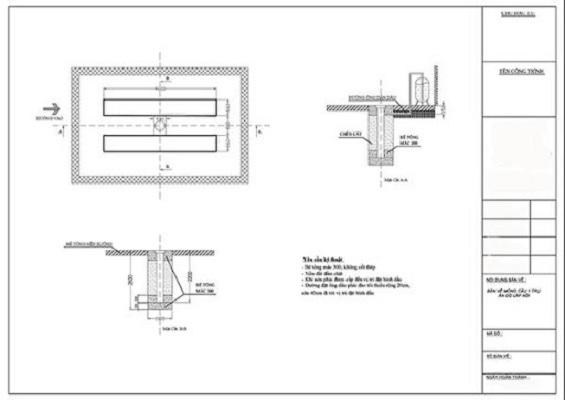 Cần tuân thủ đúng kỹ thuật khi đào hố móng cầu nâng 1 trụ