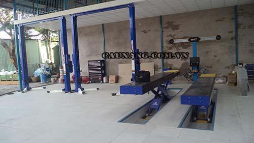 Thiết bị cầu nâng được làm từ chất liệu đạt tiêu chuẩn