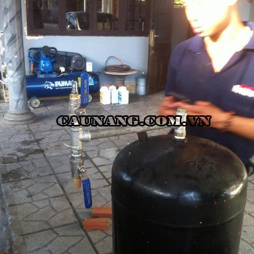 Lắp đặt bình dầu và hệ thống khí nén do Yên Phát cung cấp