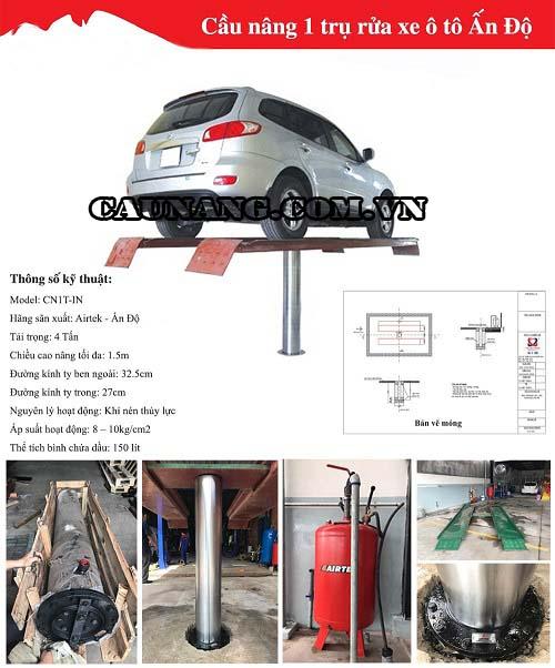 Cầu nâng 1 trụ được sản xuất tại Ấn Độ