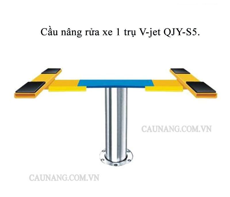Cầu nâng rửa xe 1 trụ V-jet QJY-S5.