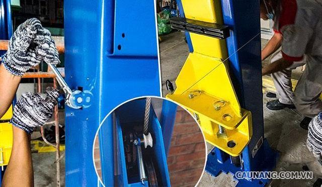 Cách khắc phục lỗi khi cầu nâng không cân bằng dây cáp