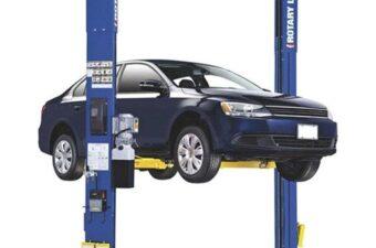 Cầu nâng ô tô 2 trụ cũ giằng trên được nhiều khách hàng yêu thích sử dụng